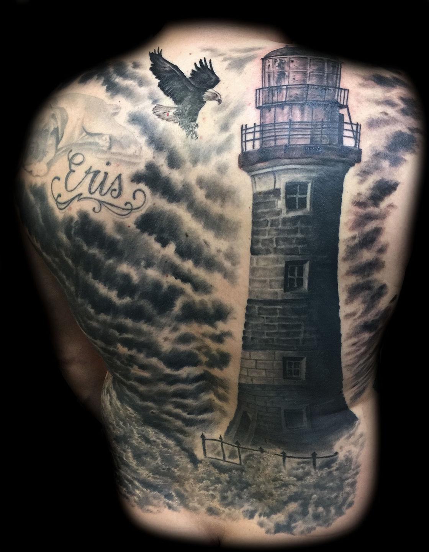 Best-las-vegas-tattoo-artists-shops-joe-riley-inner-visions-tattoo-lighthouse-tattoos