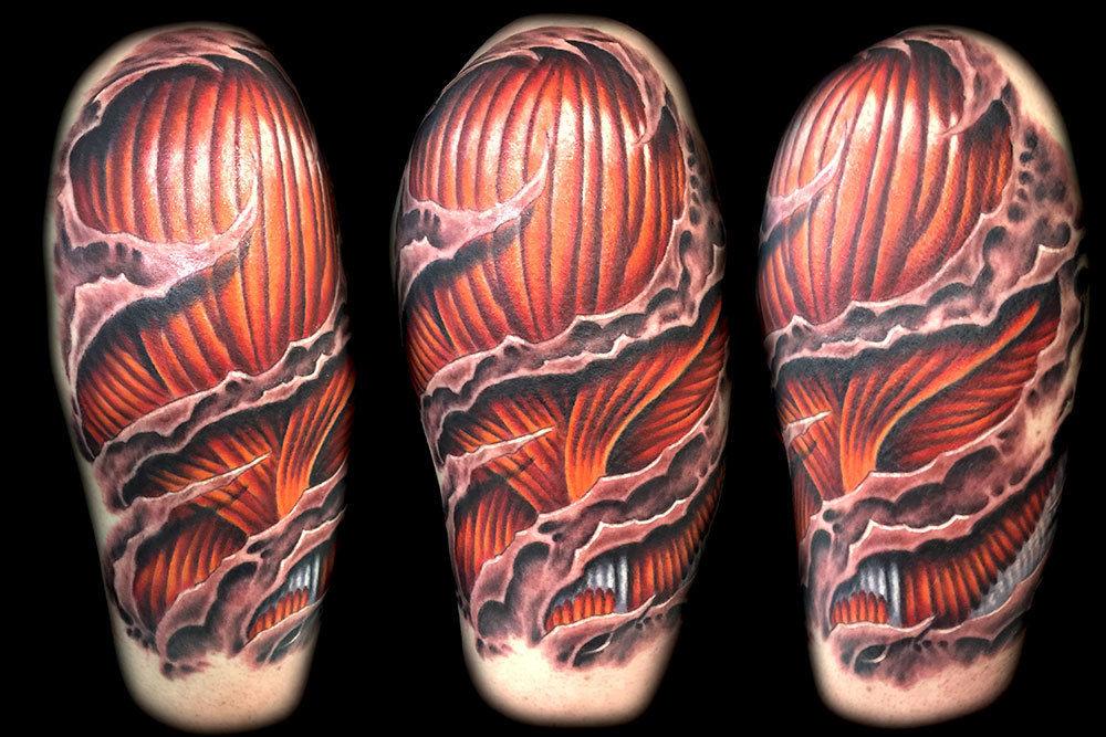 Best-las-vegas-tattoo-artists-shops-joe-riley-inner-visions-tattoo-3d-skin-rip-muscle-tattoos