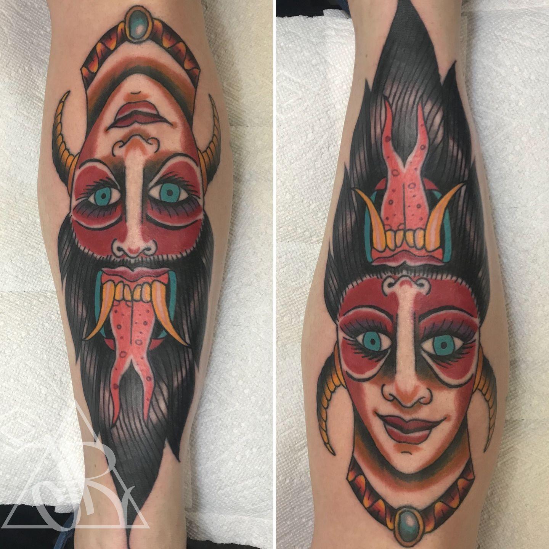 c8f7b843844c5 joshuarivas:devil-girl-devil-girl-lady-head-traditional-color-tattoo