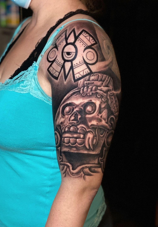 Aztec Tattoos By Goethe Silva Tattoos By Goethe