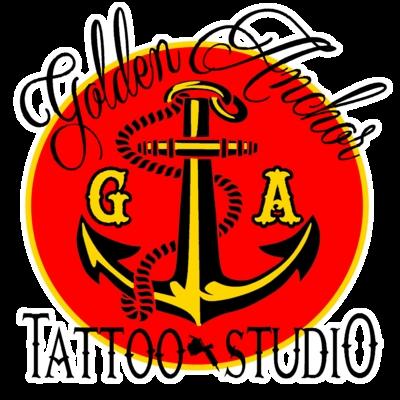 Golden Anchor Tattoo