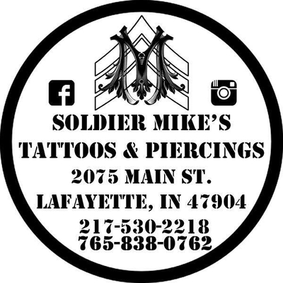 Soldier Mike's Tattoos and Piercings